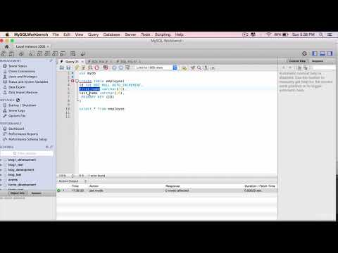 Spring Data Rest  Part 2 - Create the Employee Table