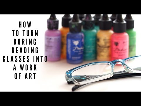 How to make plain reading glasses colorful