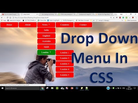 How to create Dropdown Menu with Submenus in Html and CSS