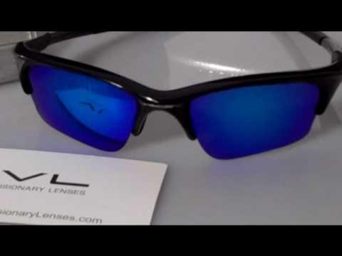 Ice Blue Polarized Visionary Lenses For Oakley Half Jacket XLJ