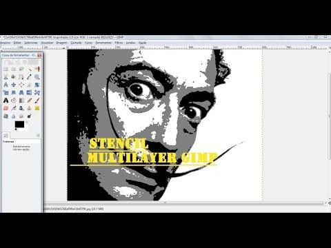 Tutorial Stencil Multi Layer GIMP