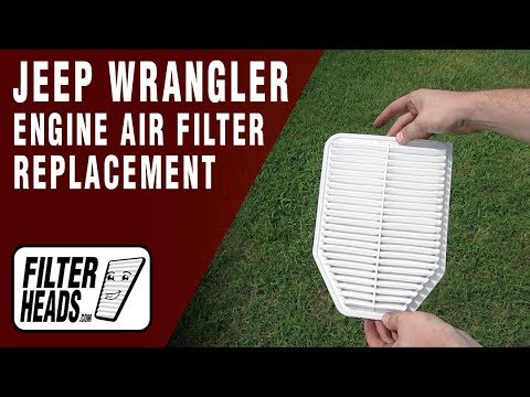 How to Replace Engine Air Filter 2015 Jeep Wrangler V6 3.6L