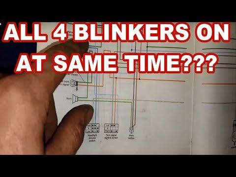XL600R LED Blinker fix  (fast blinking or all 4 lighting at same time)