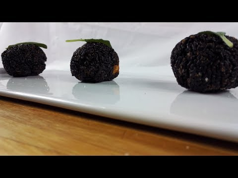Are You Hungry | ARANCINI OF BLACK RICE WITH SHRIMP | Recipe