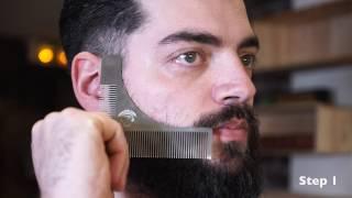 Beard Shaping Comb – 100% Stainless Steel | Beardilizer