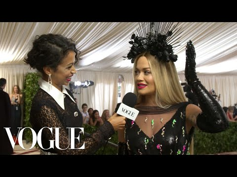 Rita Ora on Almost Knocking Off Her Headpiece Before the Met Gala | Met Gala 2018 With Liza Koshy