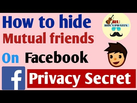 How to hide mutual friends on facebook?
