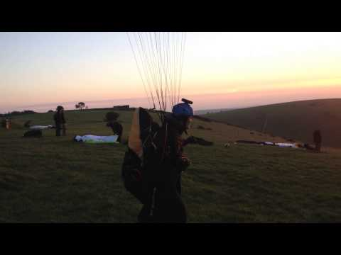 paragliding at devils dyke east sussex 15.10.13