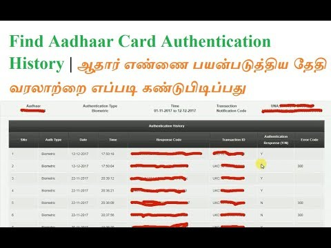 How to Find Aadhaar Card Number Authentication History in Online   Mathssolution