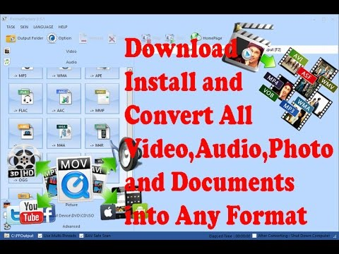 All Video,Audio,Document  and Picture converter in one free software