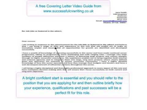 Covering Letter - How to write a Covering Letter - a free video guide