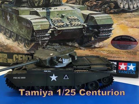 Building the tamiya 1/25 Centurion MK III Battle Tank with R/C