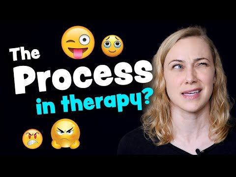 The Process in Therapy means...