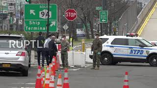 USA: Army personnel deployed in New York City amid coronavirus crisis