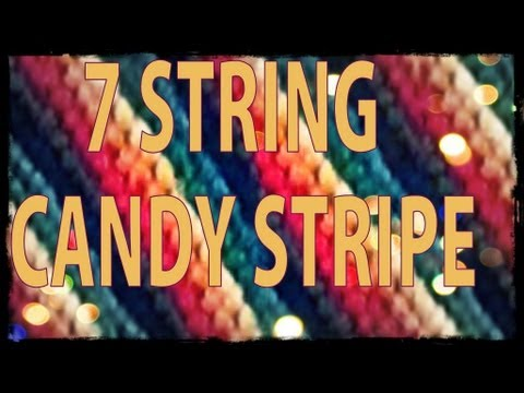 How to Make Friendship Bracelets ♥ 7 String Candy Stripe ♥