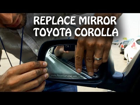 Replace wing heated mirror glass Toyota Corolla 2000-2015