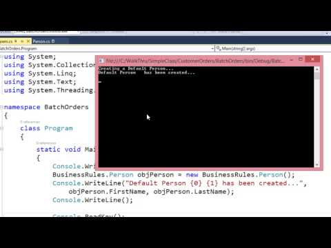 Console Application - Consume Class Library Classes
