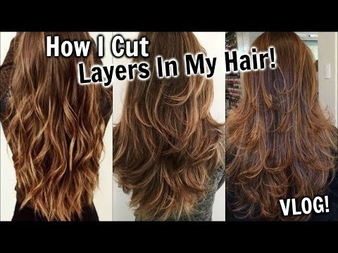 How To Cut Layers In Your Hair at Home VLOG!│DIY Long Layered Haircut Talk Through│WATCH ME Cut Hair