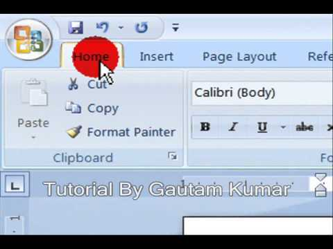 How To Increase & Decrease line Spacing In MS Word 2007 (Hindi)