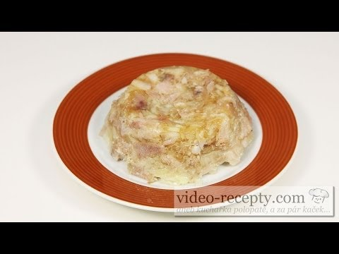 Homemade pork jelly - video recipe
