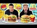 MCDONALDS VS. BURGER KING FOOD CHALLENGE !! (Most Popular Items on the Menu  🍔🍟)