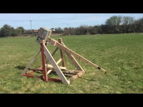How to Build a Trebuchet home made catapult cannon