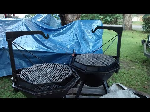 Fire pit grill build