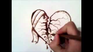Como Dibujar Un Corazon Roto Paso A Paso Videos 9videostv