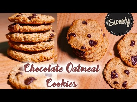 NO-Flour Crispy Oatmeal Chocolate Cookies [No butter]