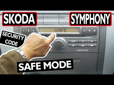 Skoda SYMPHONY RADIO CODE (unlock safe mode)
