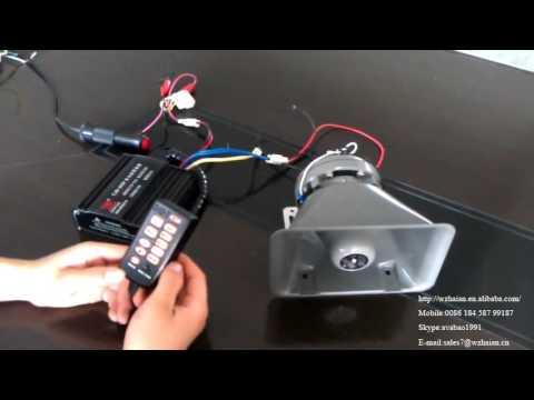 CJB-F 100W Emergency Alarm Electronic Siren With Speaker