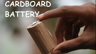 how to make a battery using cardboard at home easily