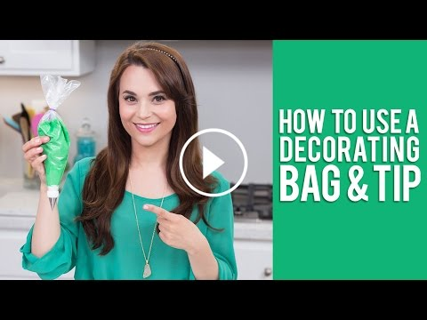 How to Use a Decorating Bag & Tip | Rosanna Pansino Video Tutorial