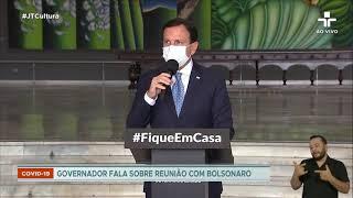 Presidente Bolsonaro adota tom conciliador em reunião com governadores