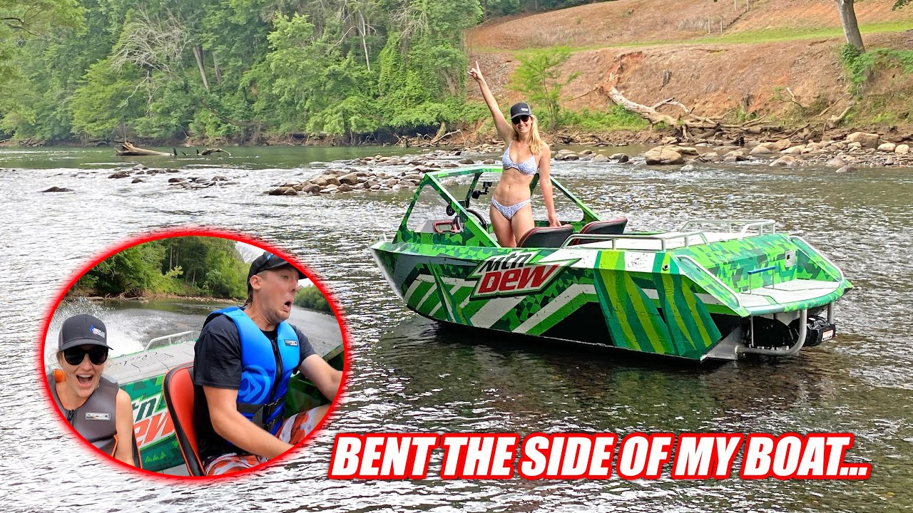 We Took Our Supercharged Jet Boats to Tennessee!! I Freaking Hit the Biggest Boulder in the River...