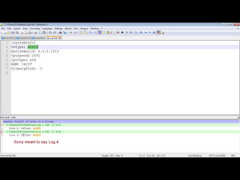 Search multiple files using Notepad ++