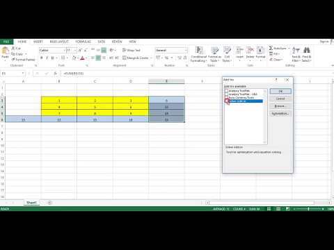 How to solve magic square 3x3 in excel using SOLVER