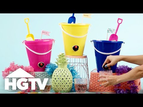 DIY Beach Bucket Wine Keg - HGTV