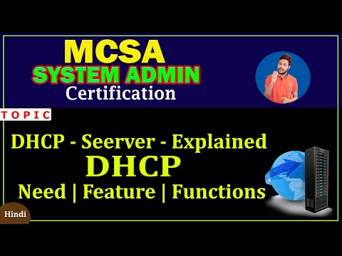 MCSA -  DHCP SERVER EXPLAINED IN HINDI  PART -1