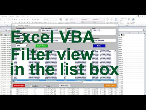 Excel VBA Listbox  Filter view in the list box  Automatic column width in the list box