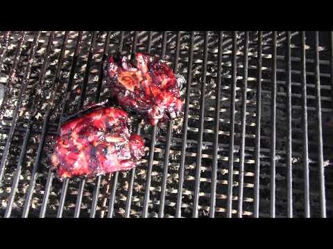 how to Marinated and cook chicken thighs on the grill