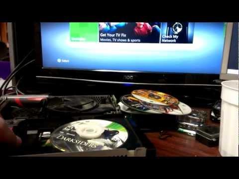 xbox 360 Slim Open Tray Error - disk won't spin no fix PART 2 OhYa