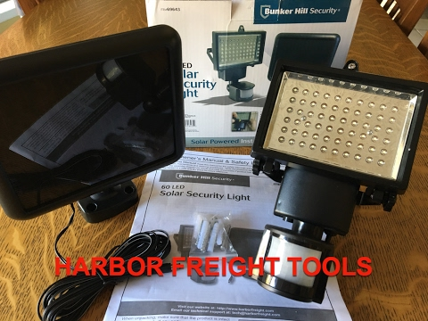 Harbor Freight - Bunker Hill 60 LED Solar Security Light  Item# 69643