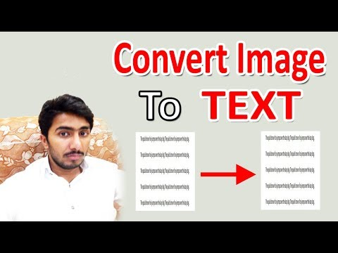 How To Convert Image To Editable Text - Convert PDF To Word Online [2017]