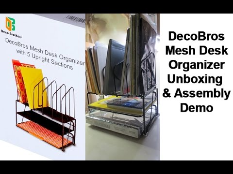 DecoBros Mesh Desk Organizer Unboxing & Assembly Demo