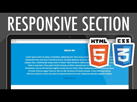 Responsive Full-Width Section HTML5 CSS3 | XO PIXEL