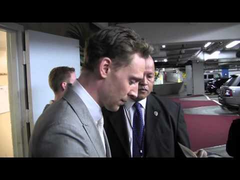 Exclusive: Tom Hiddleston (Loki) signs autographs after Iron Man 3 premiere! 4/24/13