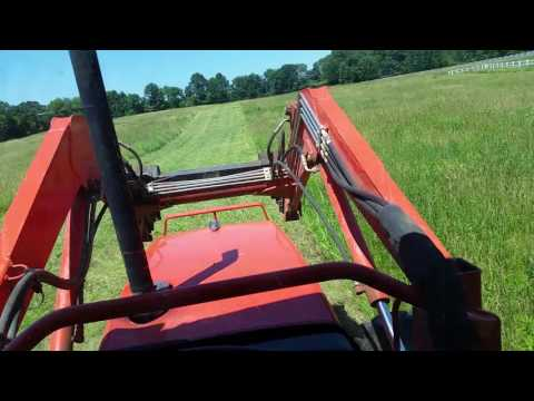 Cutting hay with a vicon disc mower