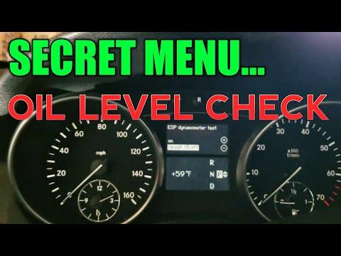 Mercedes OIL Level Check Via Secret Menu   iRepair Autos