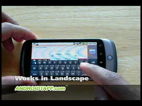 Swype Keyboard for Android Demo